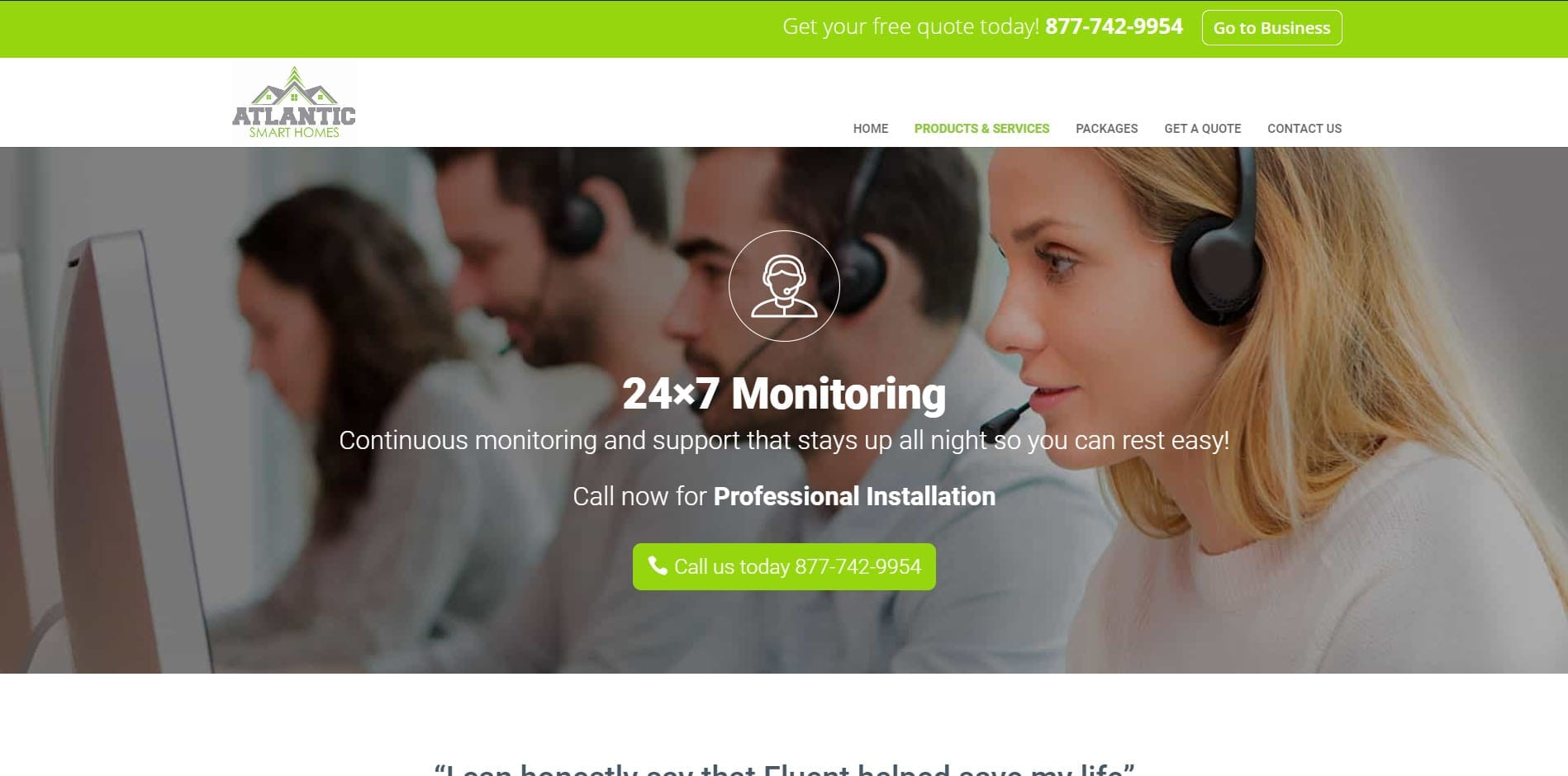 Atlantic Smart Homes - Web monitoring Built by Eagle Digital Media