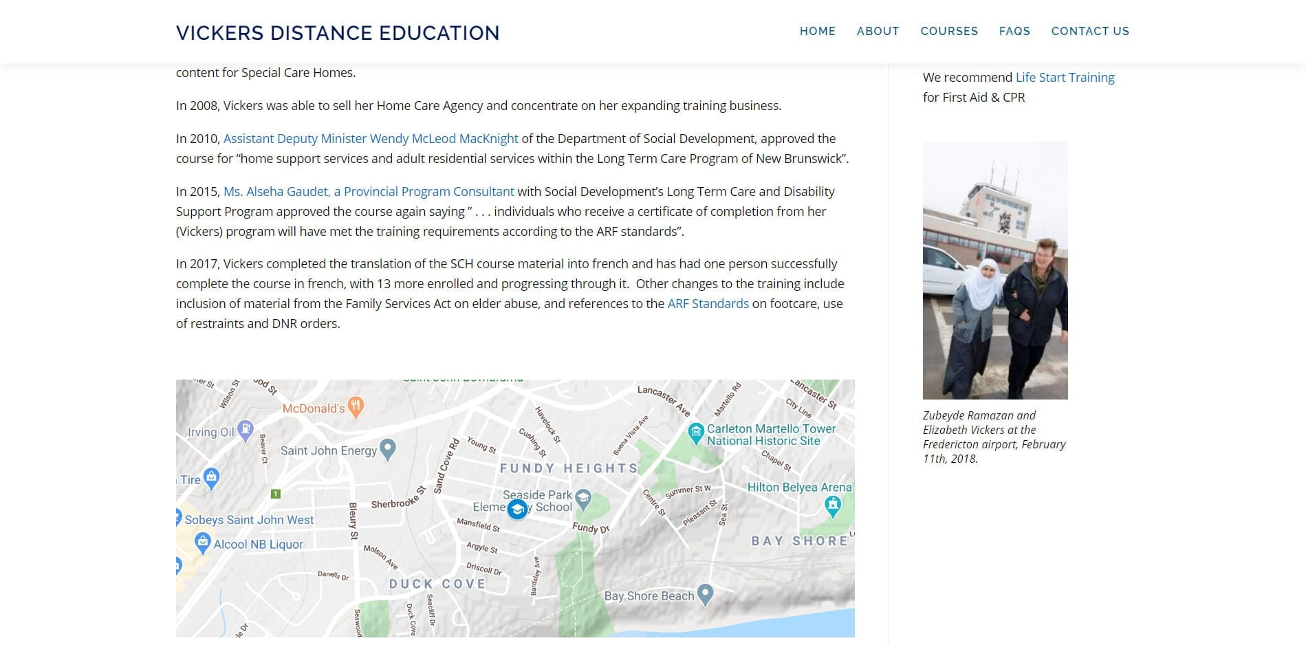 Vickers Distance Educaiton Map - Supported by Eagle Digital Media