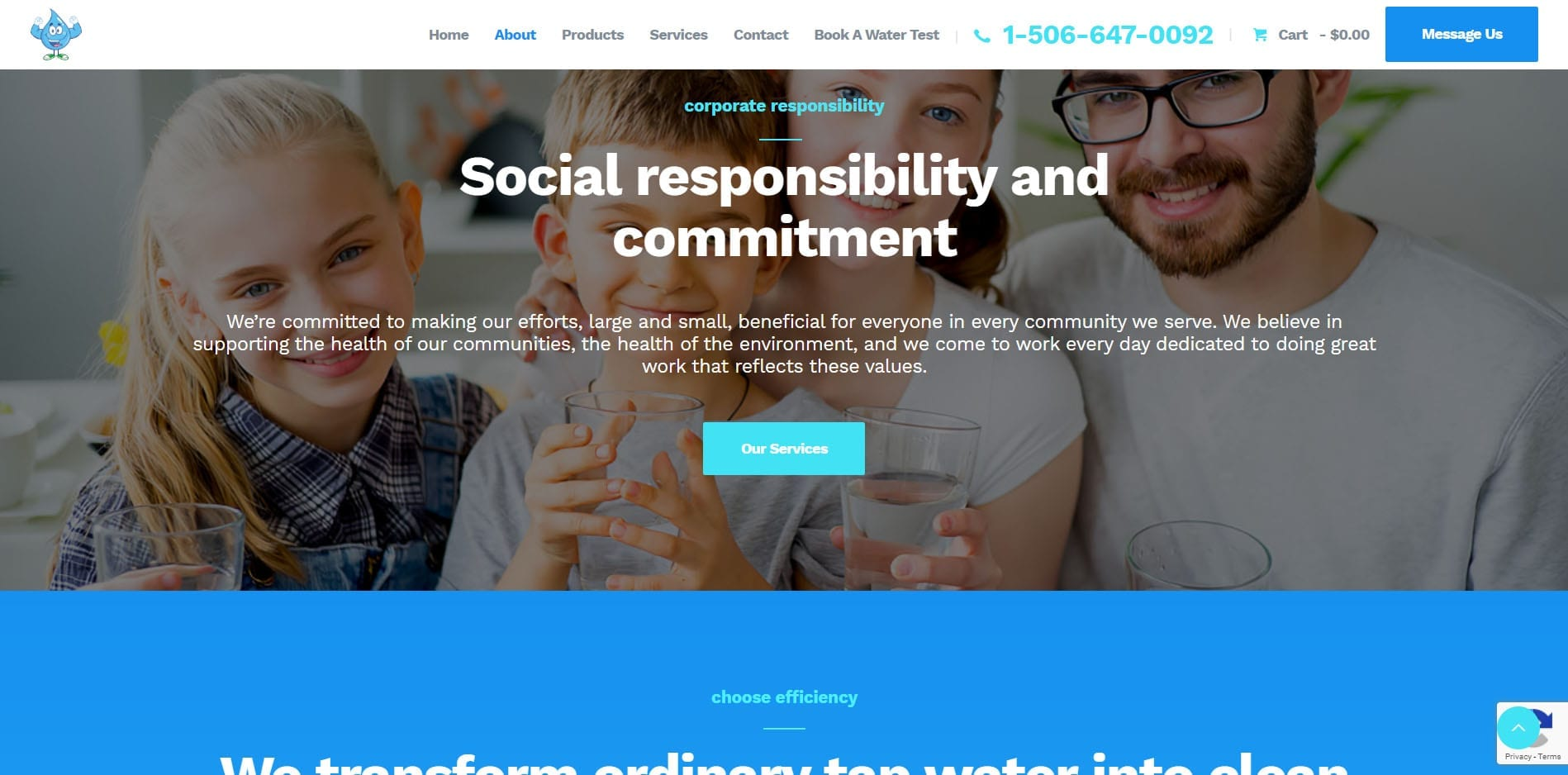 Water Man NB Social Responsibility - Built and Managed by Eagle Digital Media